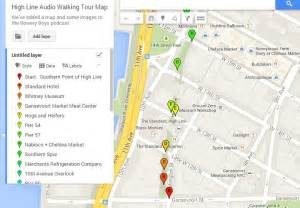 Highline New York Map by High Line Map And Self Guided Tour Free Tours By Foot