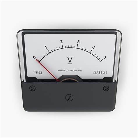 Dc Voltmeter Dc Voltmeter Electrical 3d Model