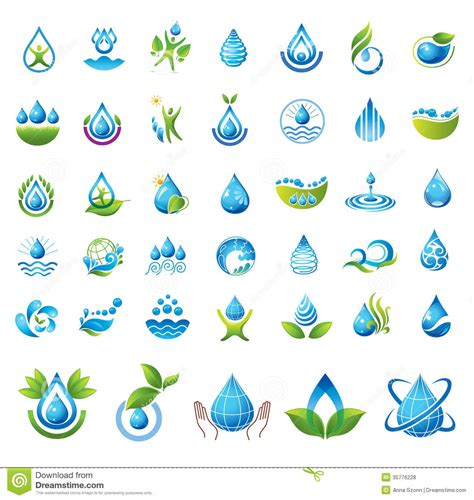 water design elements 25 vector set of vector water icons royalty free stock photos