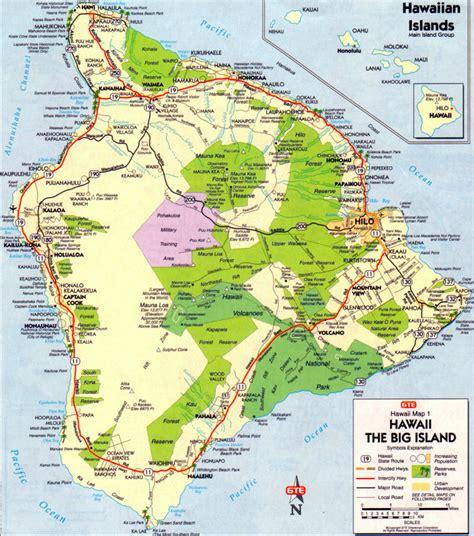 us map hawaii islands big island hawaii map it big island big