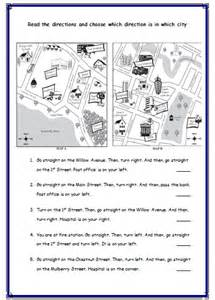 giving directions worksheets always english