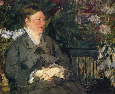 manet his life and 0754828948 madame manet in conservatory 1879 edouard manet wikiart org