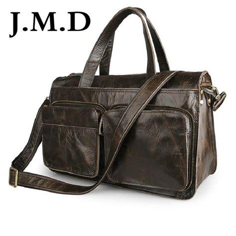 Unique Travel Bag Murmer j m d 100 genuine leather unique handbag travel bags overnight bag shoulder messenger bag
