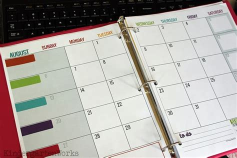 teacher monthly planning calendar template how to make a teacher planning binder binder basics