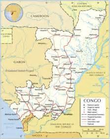 map of the republic of republik kongo kapital karte