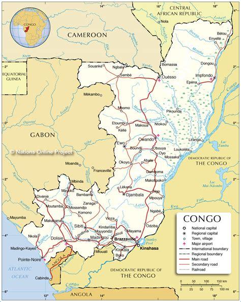 congo map republik kongo kapital karte