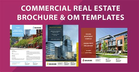 Commercial Real Estate Brochure Templates Flyer Sales Package Om Commercial Real Estate Marketing Template