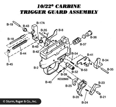 ruger 10/22 trigger group exploded view