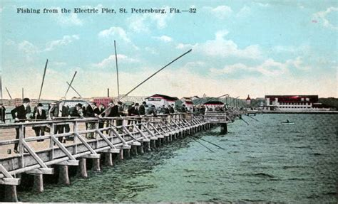 St Petersburg Fl Court Records Florida Memory Fishing From The Electric Pier Petersburg Florida