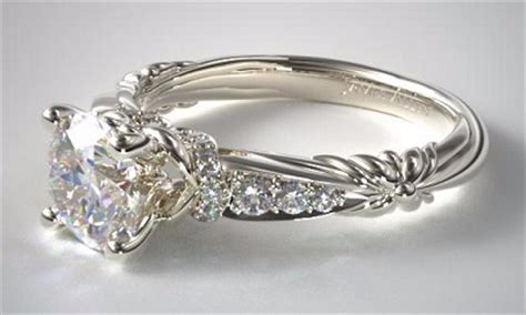 flower pattern engagement ring floral diamond rings find your flower engagement ring