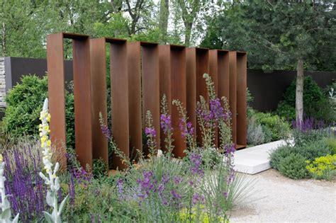 sichtschutz pflanzen garten 686 gestalten mit holz metall naturstein herrhammer