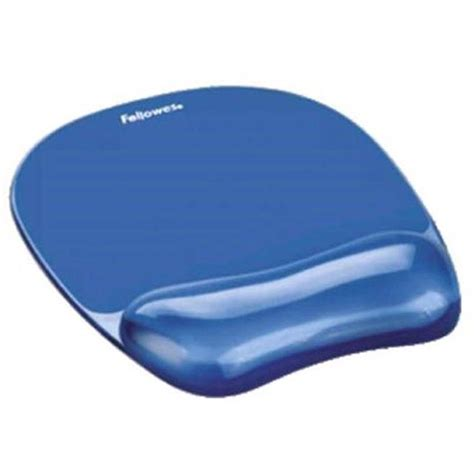 Mouse Pad Gel fellowes mouse mat pad with wrist rest gel blue