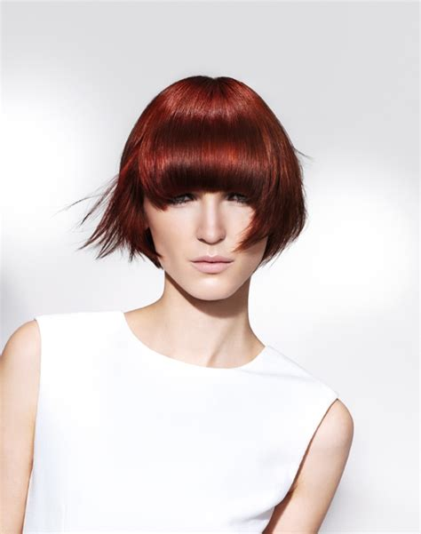 wella hairstyles a medium red hairstyle from the wella collection no 22586