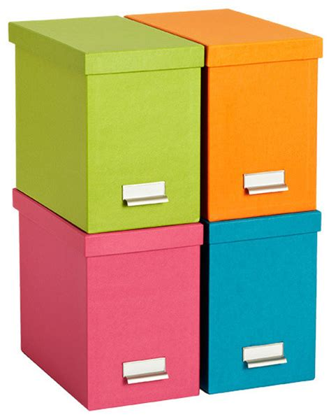 Organization Boxes Bright Stockholm Desktop File Contemporary Storage