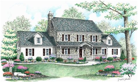 colonial farmhouse with wrap around porch stone colonial house plans and master suite this