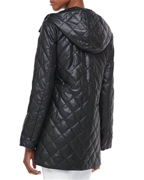 Eileen Fisher Quilted Jacket by Eileen Fisher Quilted Hooded Puffer Jacket Striped High
