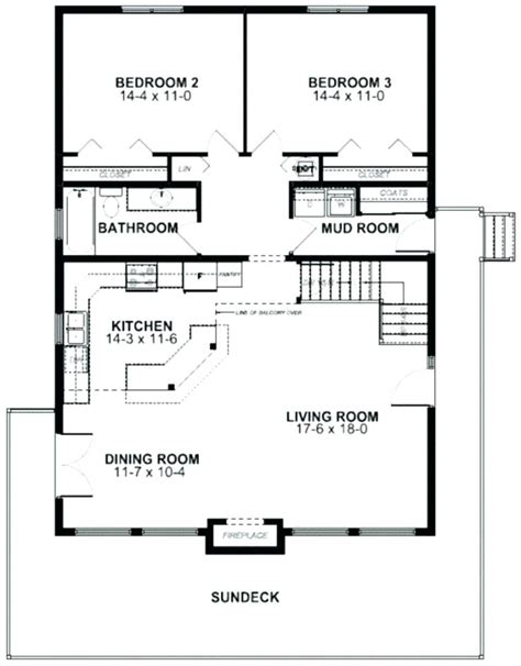lakefront cabin floor plans