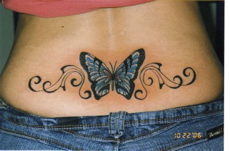 Butterfly Tattoo On Lower Back | lower back butterfly tattoos