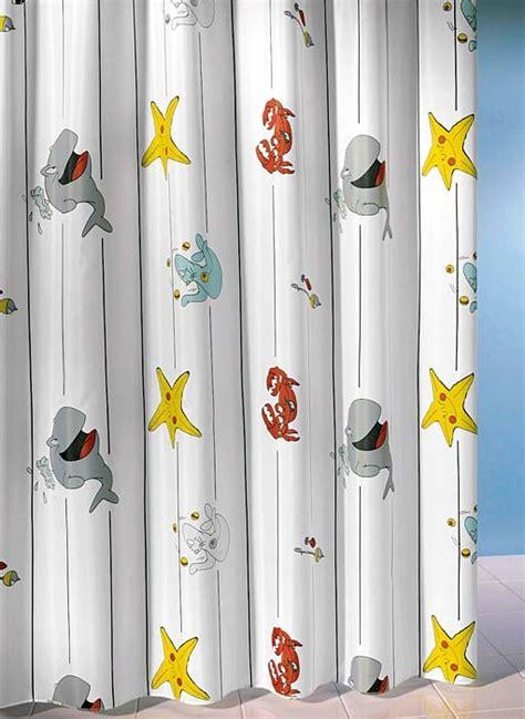 duschvorhang mit bleiband textil duschvorhang meerestiere weiss