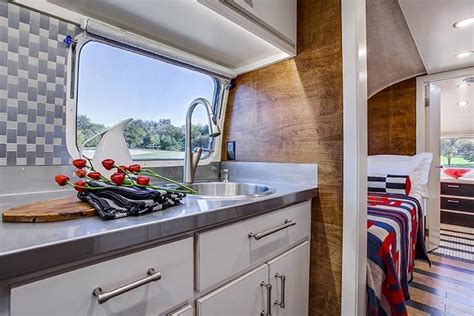 Airstream Cabinets by Restored Airstream Stainless Steel Kitchen Countertop