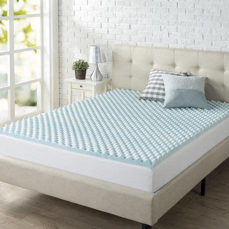 zinus 2 quot swirl gel memory foam air flow mattress topper walmart canada
