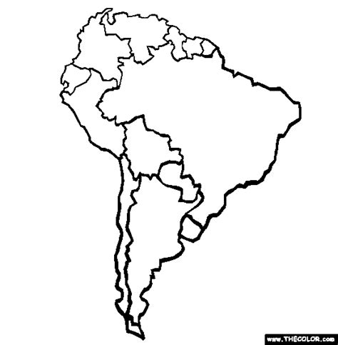 south america map outline outline map of south american continent