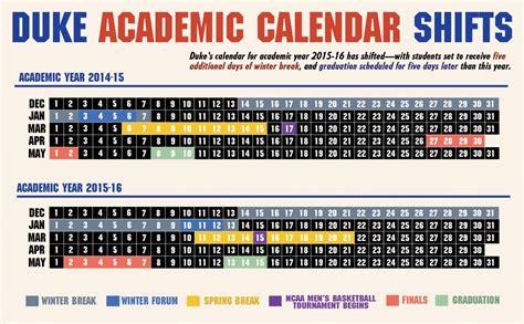 Academic Calendar Duke Winter Extended In 2015 16 Academic Calendar The