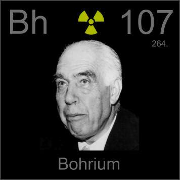 pictures, stories, and facts about the element bohrium in