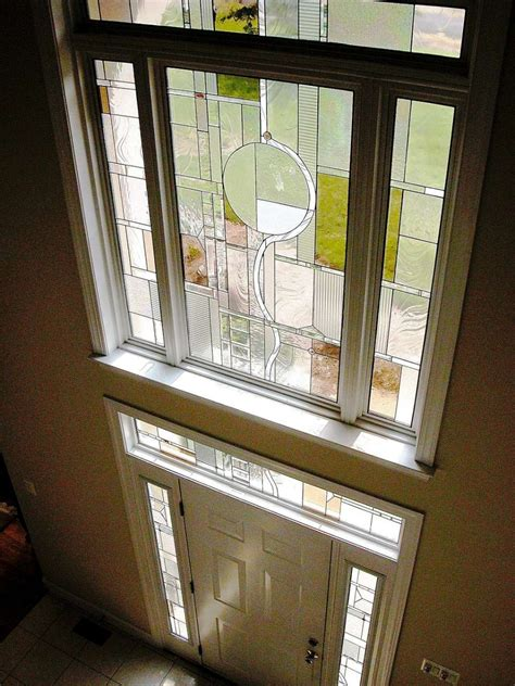 foyer window privacy decorative glass solutions custom stained glass custom