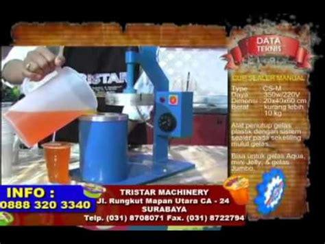 Mesin Cup Sealer Manual Alat Segel Press Gelas Plasti Limited clip hay cara membuat teh gelas aneka minuman