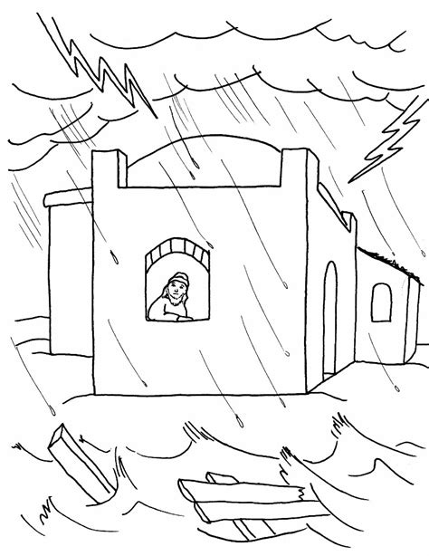 house built on rock coloring page coloring pages