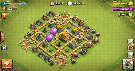 layout coc yang kuat thropy base clash of clans th 5 terkuat design base