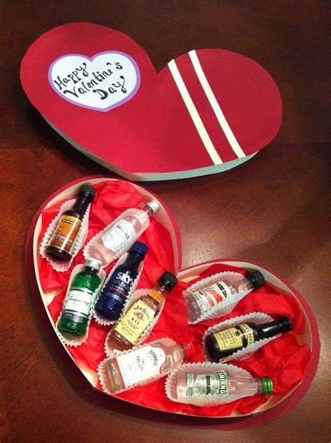 liquor valentines gifts s gift on a 10 budget shaped box from