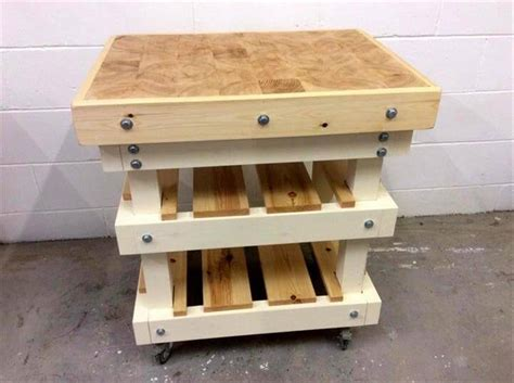 pallet kitchen island diy upcycled pallet kitchen island 99 pallets