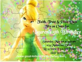 tinkerbell invitation cards for birthdays tinkerbell ideas turn your invitation into a