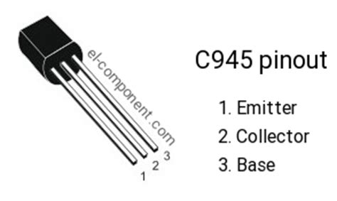 transistor c945 c945 n p n transistor complementary pnp replacement pinout pin configuration substitute