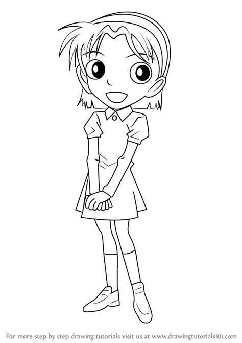 how to draw learn how to draw ayumi yoshida from detective conan