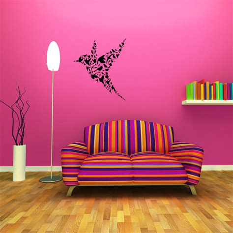 abstract wall stickers abstract flying bird removable wall stickers and wall decals