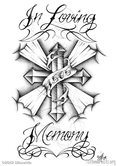 in loving memory cross tattoos chicano drawings roses in loving memorycustom