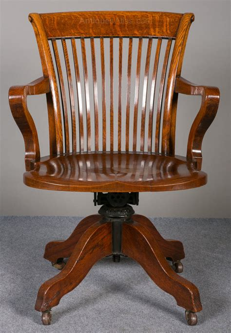 Oak Swivel Reclining Desk Chair Antiques Atlas Antique Swivel Desk Chair