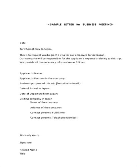 Business Letter Sle Request For Meeting business letter format for meeting 28 images sle of