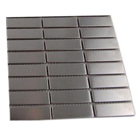 splashback tile stainless steel metal mosaic floor and