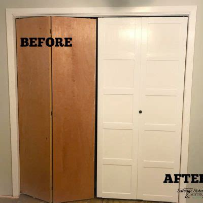 diy bi fold closet doors diy projects archives salvage and mister