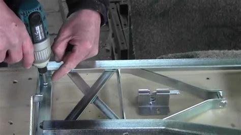 bierzeltgarnitur selber bauen montage bierbankgestell mit r 252 ckenlehne http www