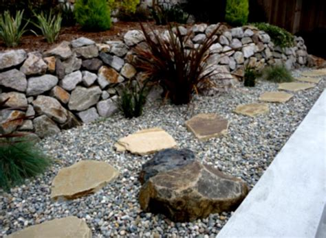 Landscape Rock Mulch Amazing Green Landscaping Ideas Mulch And Rock With Shrubs