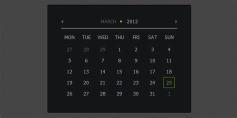 calendar layout css how to create calendar using jquery and css3 designmodo