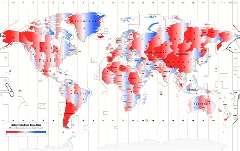time change map usa daylight time politics makes for strange time zones cbc