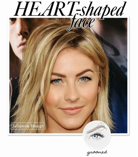 what shape face does julianna hough have create eyebrow shape with celebrity style tips for