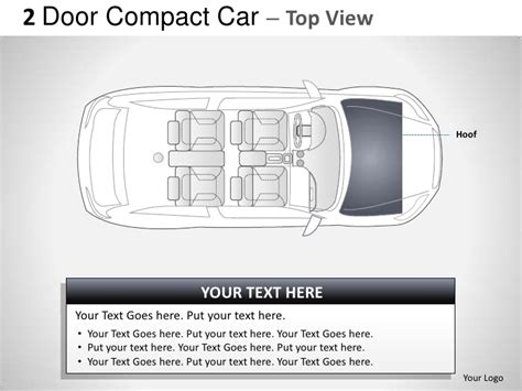 2 door compact cars 2 door gray compact car top view powerpoint presentation