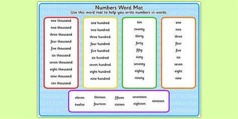 new year story word mat numbers in words word mat numbers words word mat mat